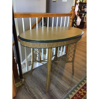 1930s Boho Chic Rattan and Wicker Oval Table Preview