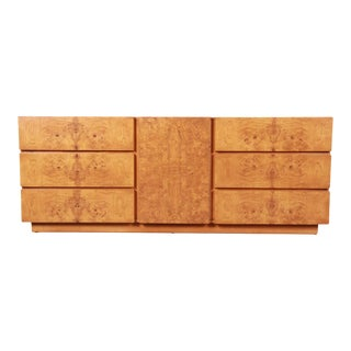 Burl Wood Credenza by Lane Furniture For Sale