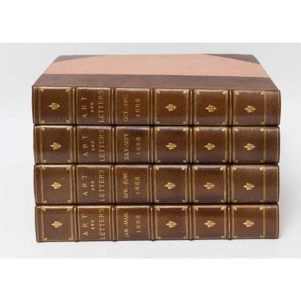 An illustrated review of art and letters complete eight volumns. Very fine bindings.