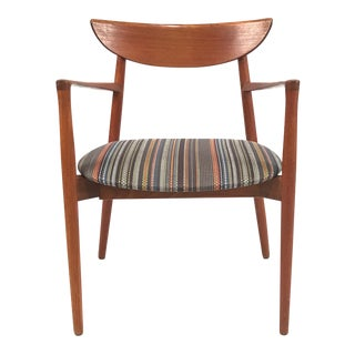 Vintage Harry Ostergaard for Randers Møbelfabrik Danish Teak Carver Armchair For Sale