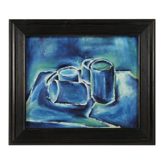 Abstract Still Life Acrylic Painting Attributed to Roland David For Sale