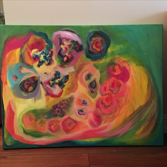Original Acrylic Floral Painting - Image 2 of 4