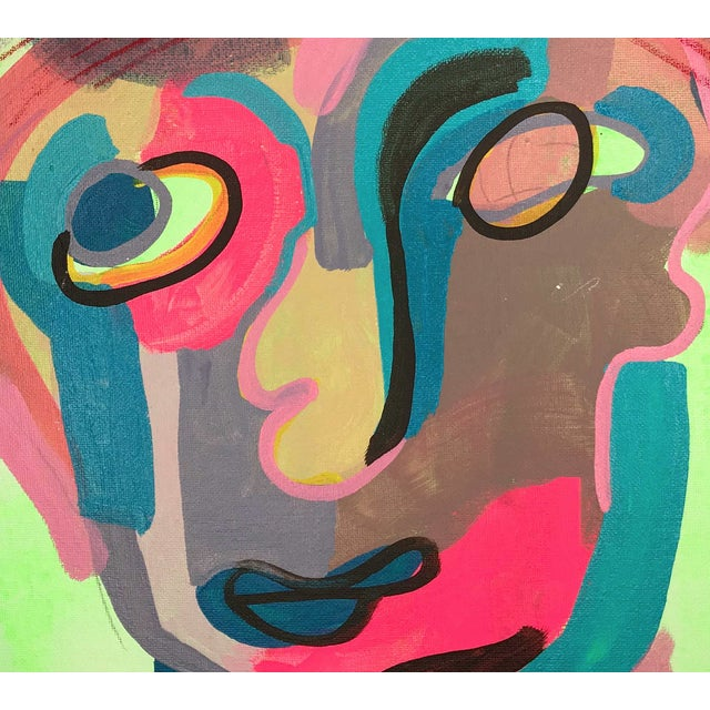 "Contemporary Abstract Portrait Painting ""I Love This One, No. 2"" For Sale In Detroit - Image 6 of 7"