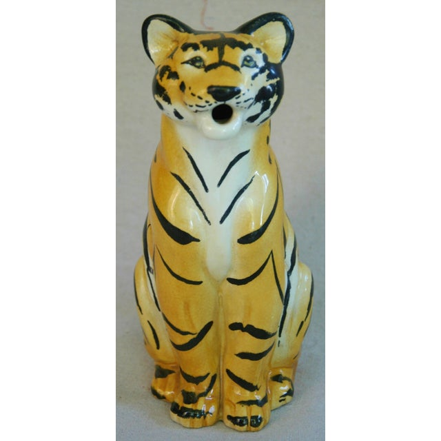 Italian Hollywood Regency Tiger Pitcher - Image 3 of 8