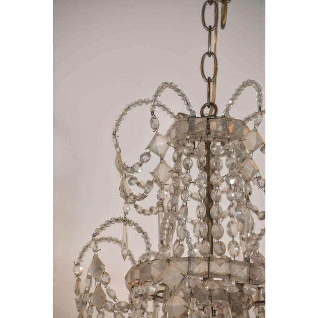 Seven-Light Crystal Chandelier For Sale - Image 10 of 10