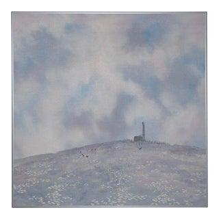 """Duane Albert Armstrong """"Saturday Hike"""" Original Oil Painting C.1988 For Sale"""
