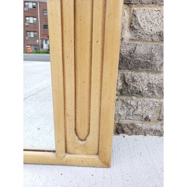Tan Mid Century John Stuart Blond Wood Large Mirror For Sale - Image 8 of 12