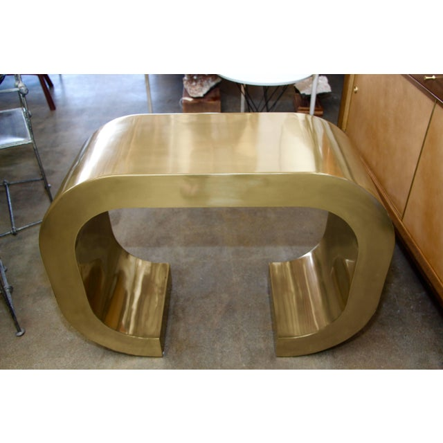 Bridges Over Time Originals Brass Coated Console For Sale In Palm Springs - Image 6 of 10