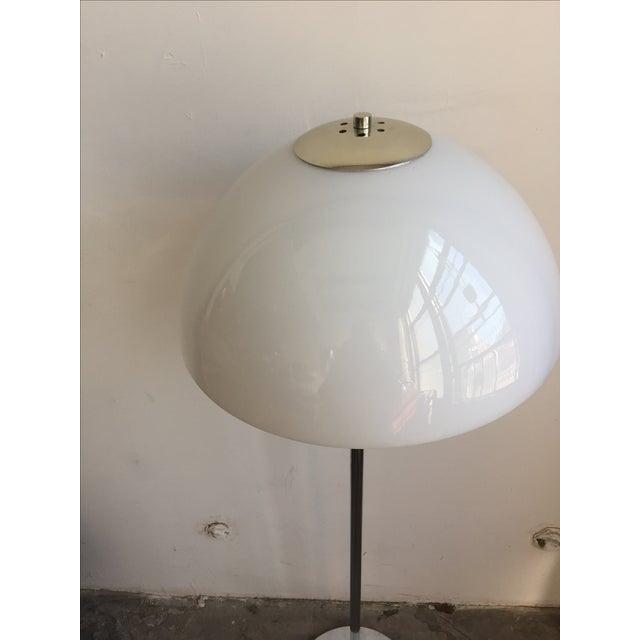 Chrome Floor Lamp with White Glass Mushroom Shade - Image 5 of 10