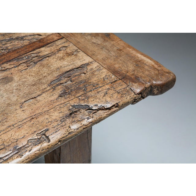 1800s Rustic Modern Refactory Oak Dining Table For Sale - Image 11 of 13