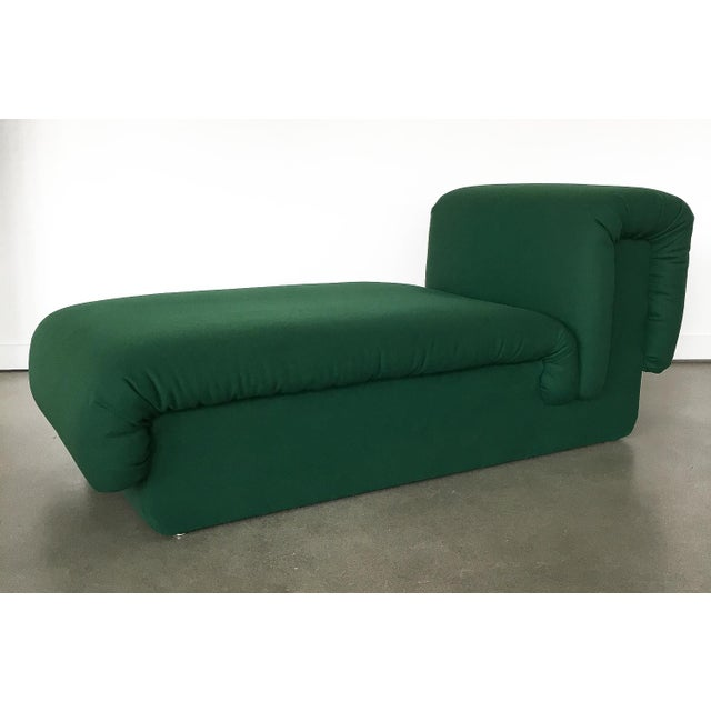 Italian Pair of Italian Fully Upholstered Modernist Chaise Longues For Sale - Image 3 of 13