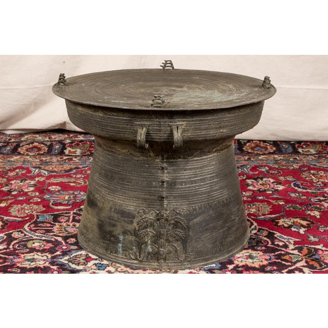 Asian South Asian Bronze Rain Drum Table For Sale - Image 3 of 9