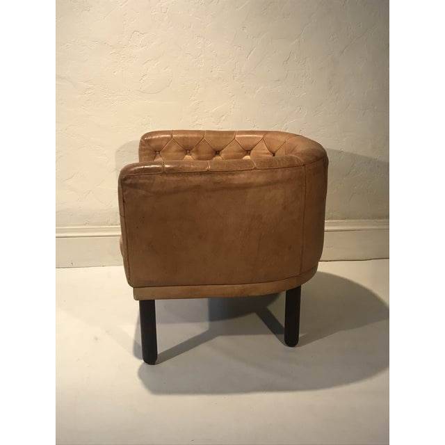 Cassina 1960s Vintage Cassina Figli DI Amedeo Tufted Leather Club Chair For Sale - Image 4 of 12