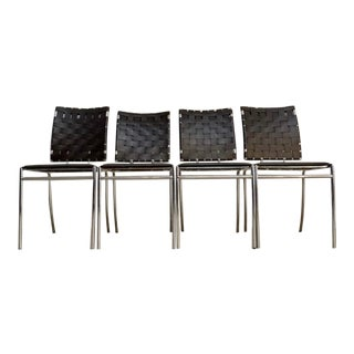 Oren Ellis Chiswick Upholstered Modern Side Chairs - Set of 4 For Sale