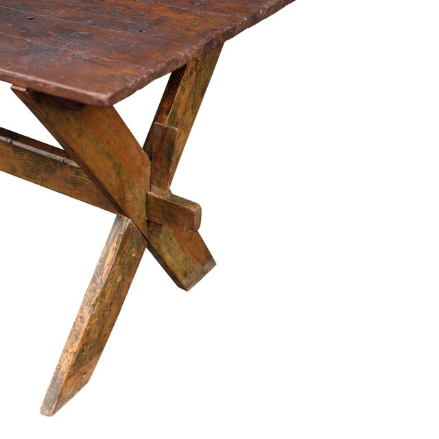 Late 19th-Early 20th Century Trestle Table - Image 2 of 6