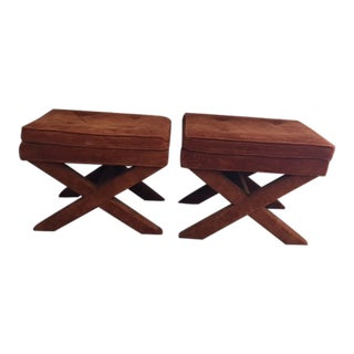 1970s Vintage Billy Baldwin Style Benches - a Pair For Sale