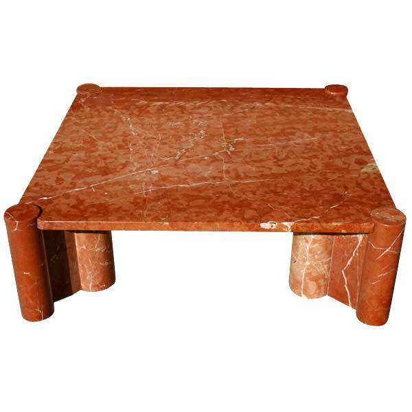 Features: Rosso- terracotta marble (suffix MR) with white veining construction Polished finish with marble cluster legs....