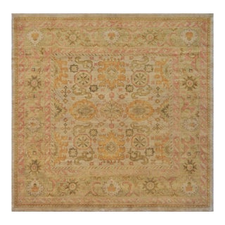 """Mansour Fine Handwoven Square Oushak Rug- 8'10"""" X 9' For Sale"""