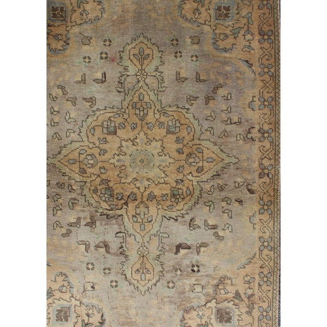 Semi Antique Tabriz Rug - 3′ × 4′9″ For Sale - Image 4 of 7