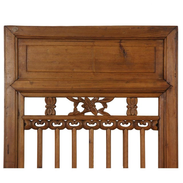 This is a pair of Chinese antique Open Carved Window Shutters. They were made of solid cypress wood, heavy and sturdy. It...