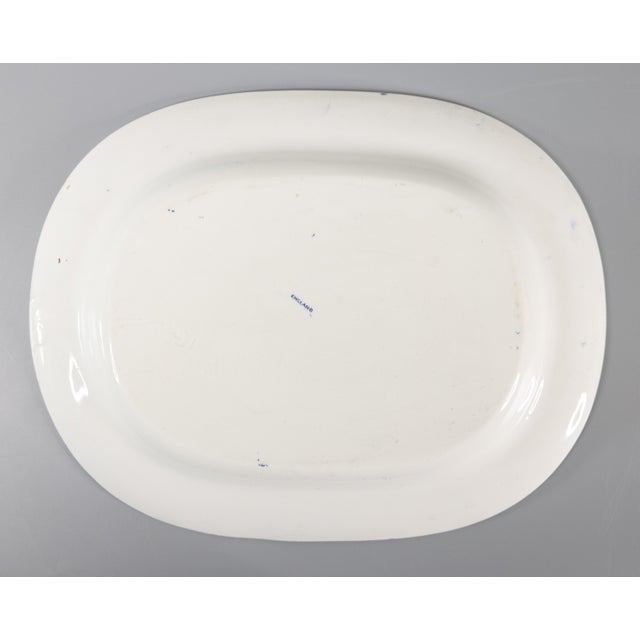 Staffordshire Antique English Staffordshire Blue Willow Platter For Sale - Image 4 of 5