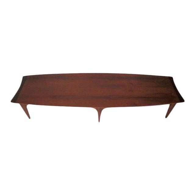 Mid Century Surfboard Coffee Table At 1stdibs: Long Surfboard Style Mid-Century Coffee Table