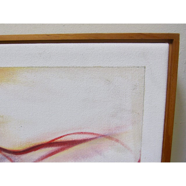 Canvas Vintage Abstract Anatomical Nudes Painting by Lynn Schuette For Sale - Image 7 of 8