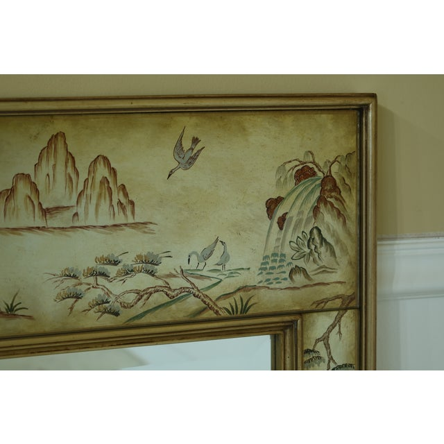 Chinoiserie Labarge 8192-28 Eglomise Chinoiserie Mirror For Sale - Image 3 of 9