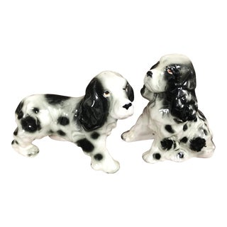 1950s Vintage Japanese Cocker Spaniel Salt & Pepper Shakers - A Pair For Sale