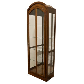"High End Country French 28""Illuminated Display Curio Cabinet For Sale"
