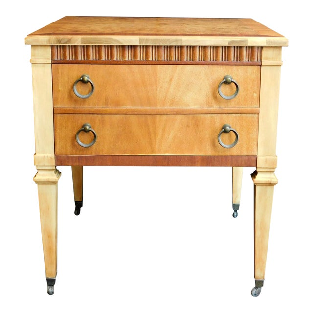 1960s Classic Wooden End Table For Sale