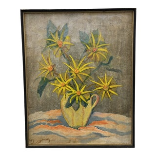 Floral Still Life in Frame For Sale
