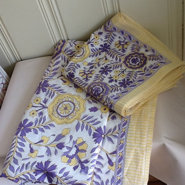 Tuscany Style Tablecloth & Napkins - Set of 8 For Sale - Image 10 of 10