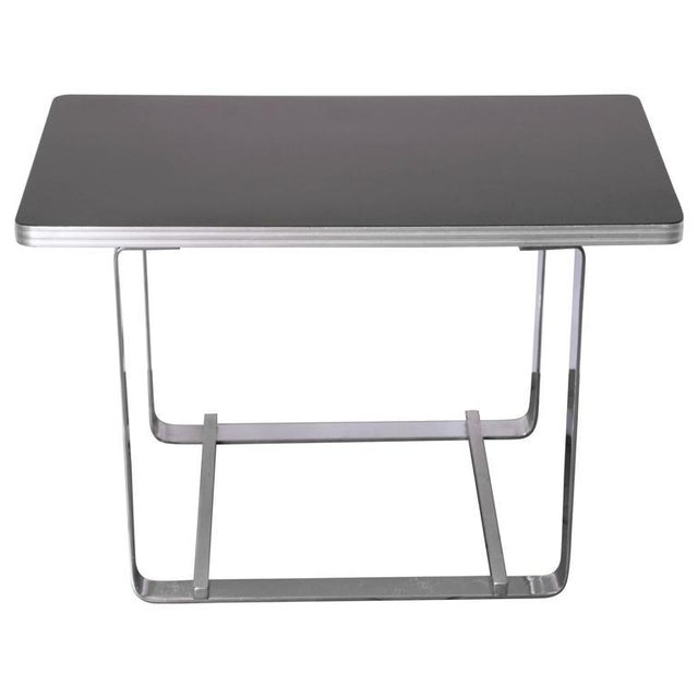 Gilbert Rohde for Troy Sunshade Machine Age Art Deco Side or End Cocktail Table For Sale - Image 11 of 11