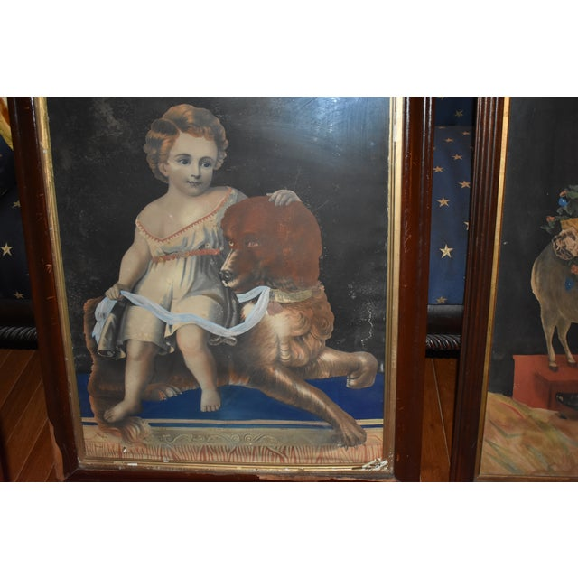Lithograph 19th Century Antique Henry Schile Hand-Painted Lithographs, Painting Is Watercolor - a Pair For Sale - Image 7 of 11