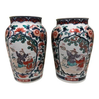 Early 19th Century Export Vases, - a Pair For Sale