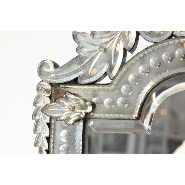Silver Vanity-Top Venetian Mirror For Sale - Image 8 of 12