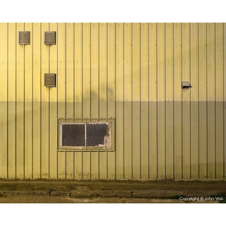 "Contemporary Night Photograph ""Corrugated Wall"" by John Vias For Sale"
