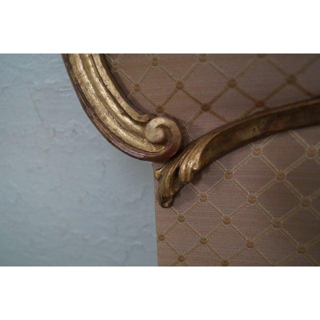 Vintage Italian Gilt Wood Rococo Queen Headboard - Image 7 of 10