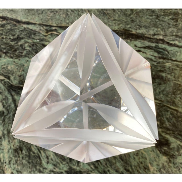 1970s Italian Alessio Tasca Lucite Cube For Sale - Image 11 of 13
