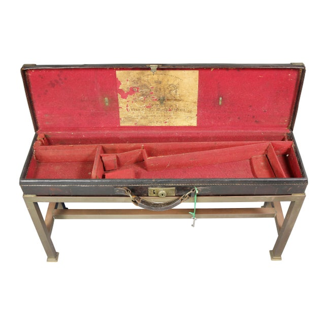 Early 19th Century Regency Leather Gun Case on Base For Sale - Image 5 of 12