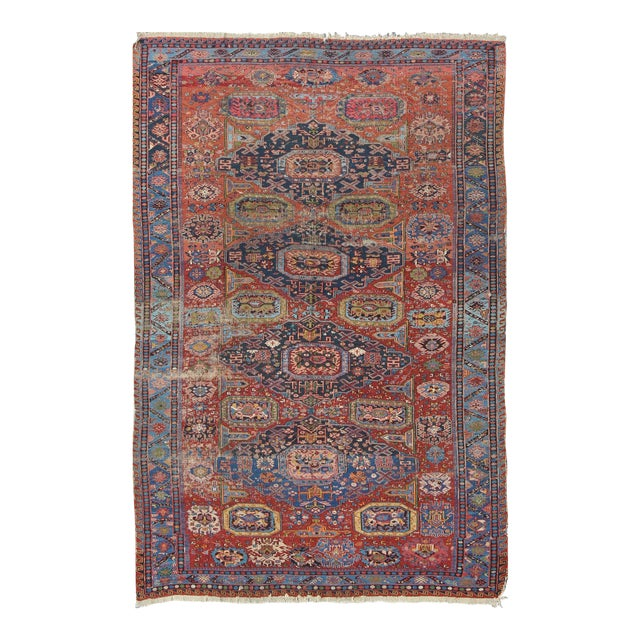 Keivan Woven Arts, S12-0409, Late 19th Century Antique Caucasian Sumac Rug - 7′3″ × 10′8″ For Sale