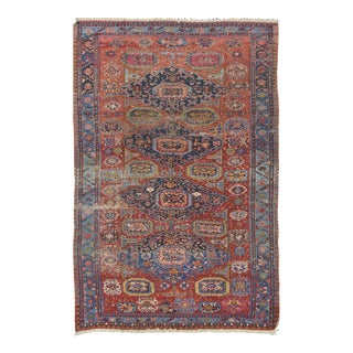 Late 19th Century Antique Caucasian Sumac Rug - 7′3″ × 10′8″ For Sale