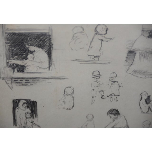 "Eugene Higgins (1874-1958) ""Family Life"" Sketches C.1920's For Sale In San Francisco - Image 6 of 11"