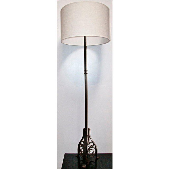 French French Iron Floor Lamp For Sale - Image 3 of 8