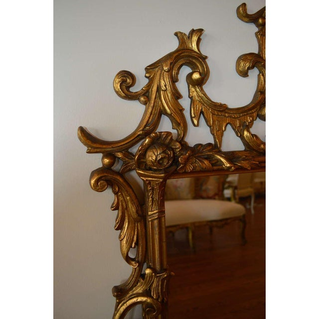 Early 20th Century Early 20th Century Vintage Rococo Style Gilded Mirror For Sale - Image 5 of 8