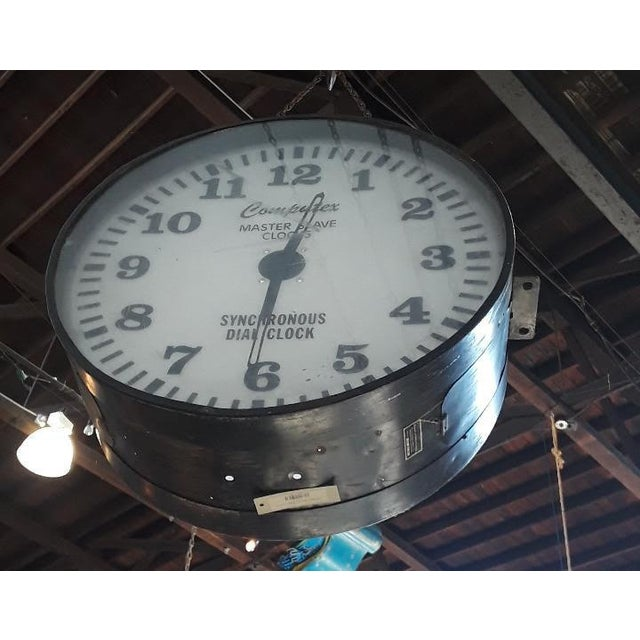 Vintage Industrial Factory Clock For Sale - Image 4 of 6