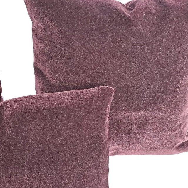 "Pollack Sedan Plush in Imperial Purple Pillow Cover - 20"" X 20"" Dark Purple Velvet Cushion Case For Sale - Image 4 of 7"