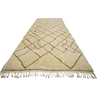 Berber Moroccan Runner With Tribal Design - 4′ × 19′4″ For Sale