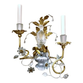 Pair Chinoiserie Sherle Wagner Art Glass Wall Sconces